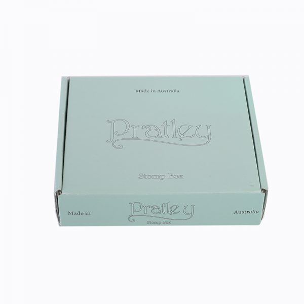 light blue printed mailing box with logo3